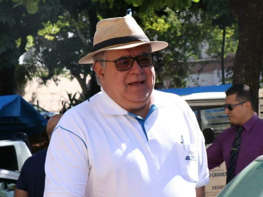 Carlos Marun durante visita a obras na Capital (Foto: Henrique Kawaminami/Arquivo)