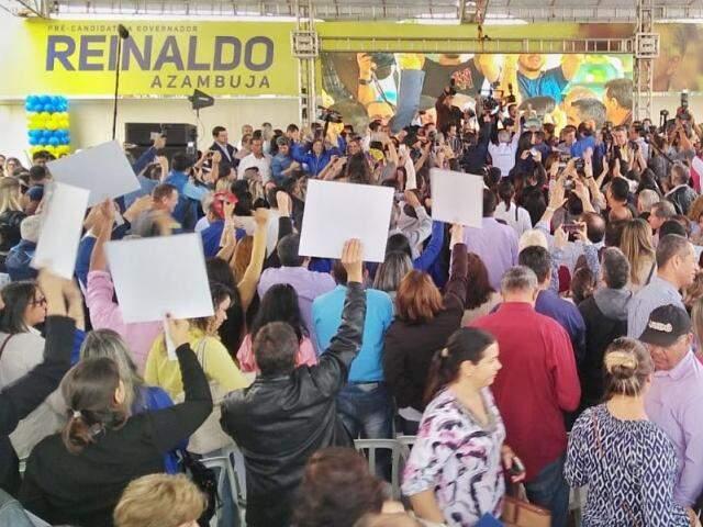 Convenção do PSDB acontece nesta manhã em Campo Grande; partido aguarda 14 aliados em coligação. (Foto: Fernando Antunes)