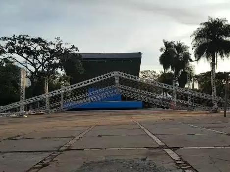 Telão será montado na Praça do Rádio para transmissão dos jogos do Brasil
