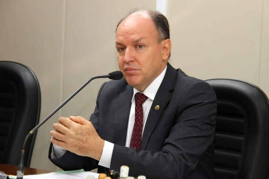 O presidente da Assembleia, o deputado Junior Mochi, durante sessão (Foto: Assessoria;ALMS)