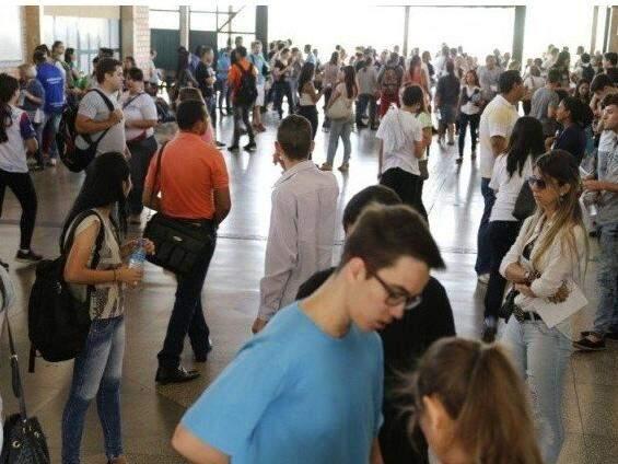 Edição de anos anteriores do Enem na UCDB. (Foto: arquivo/Campo Grande News)