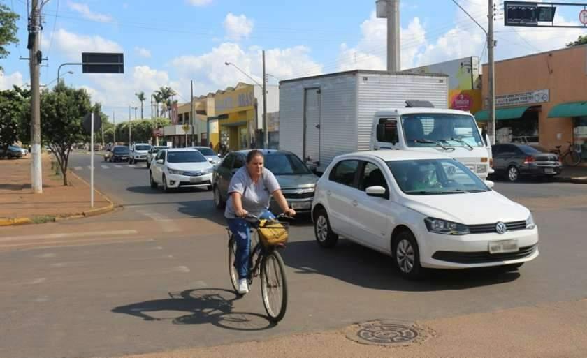 Trânsito de Três Lagoas. (Foto: JP News)