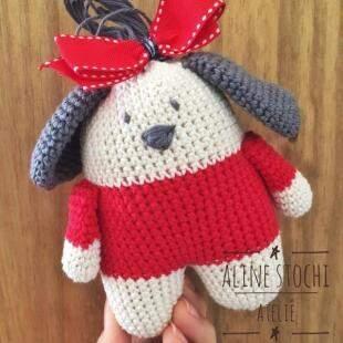 Amigurumi inspirado na pequena Lóia Boia. (Foto: Aline Stochi)