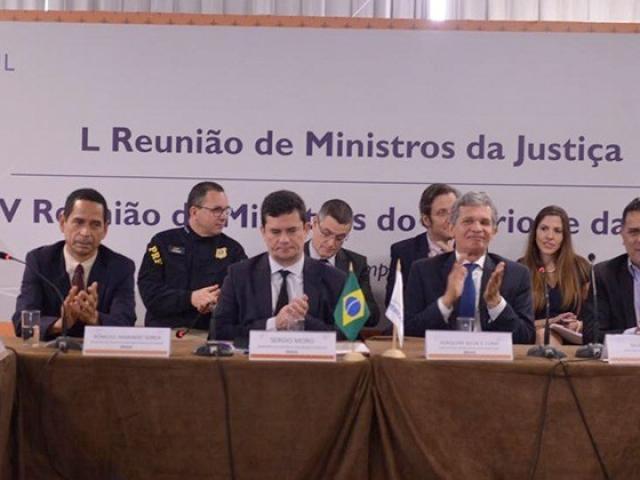Moro (segundo à esquerda) afirma que entendimento fará fonteiras deixarem de ser obstáculo intransponível. (Foto: MJSP/Divulgação)