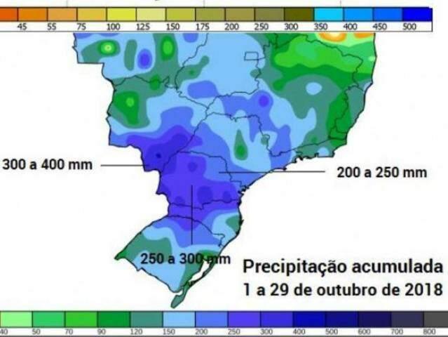 Gráfico com a média de chuvas na região. (Foto: ReproduçãoUOL)