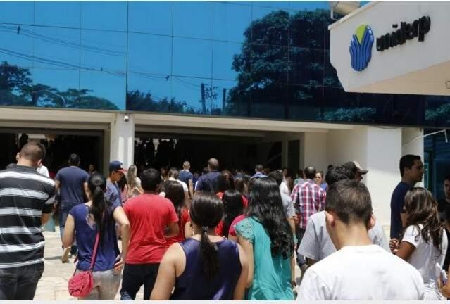 Prova do Enem aplicada em Campo Grande em anos anteriores (Foto: Gerson Walber/Arquivo)