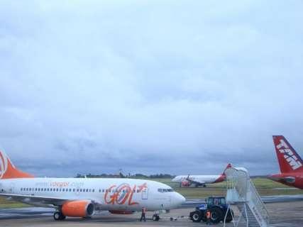 Aeroporto tem queda no volume de passageiros e aumento no de cargas