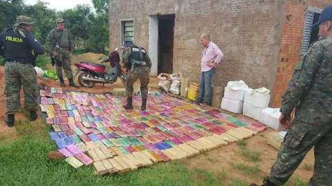 Polícia paraguaia apreende mais de 600 quilos de maconha na fronteira