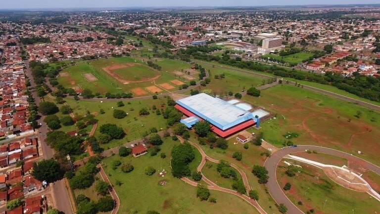 No bairro Aero Rancho, o Parque Ayrton Senna é um importante espaço público de esporte e lazer (Foto: Reprodução)