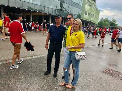 Em Viena, sul-mato-grossense realiza sonho de ver o Brasil jogar