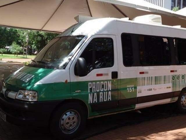 Unidade móvel do Procon da Capital. (Foto: Divulgação/Procon)