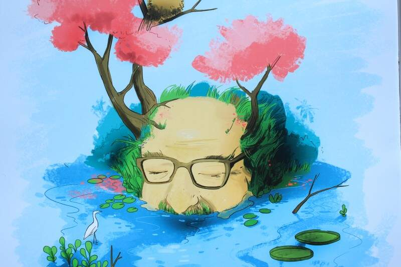 Ilustrações transformam poesias em traços. (Foto: Marina Pacheco)