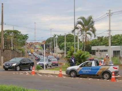 Agetran fecha pista para início de obra na rotatória da Joaquim Murtinho