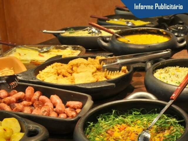 Na hora do almoço, cada prato é um sabor de brasilidade. (Foto: Alcides Neto)