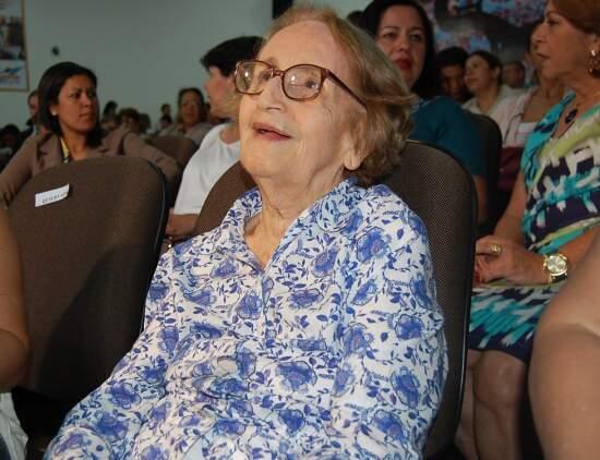 Stella Barros representou o esposo no lançamento do CD (Foto: Wendell Reis)