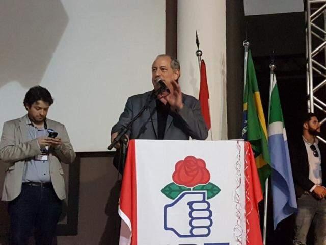 Candidato à presidente, Ciro Gomes, realiza evento político em Campo Grande (Foto: Arquivo)