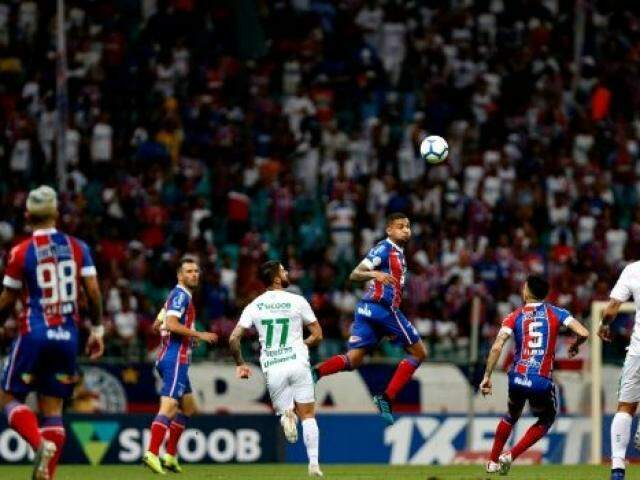 Lance do jogo desta noite na Arena Fonte Nova. (Foto: Felipe Oliveira / E.C. Bahia)