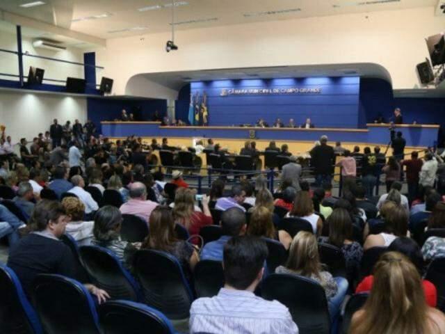Sessão na Câmara de Vereadores, pela Ricardo Brandão. (Foto: Divulgação)