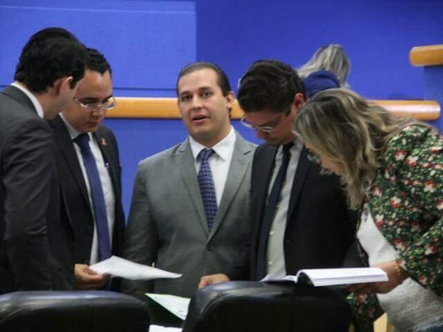 Vereadores na Câmara Municipal de Campo Grande. (Foto: Marcos Ermínio/Arquivo).