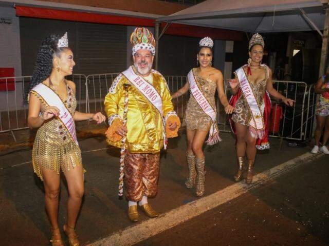 Corte do Carnaval também esteve no desfile (Foto: Paulo Francis)