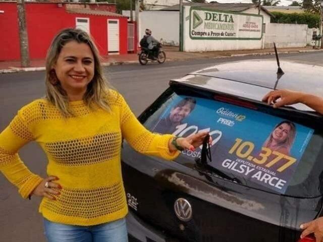 Gilsy Arce teve R$ 760 mil para realizar campanha e obteve 491 votos. (Foto: Reprodução/Facebook)