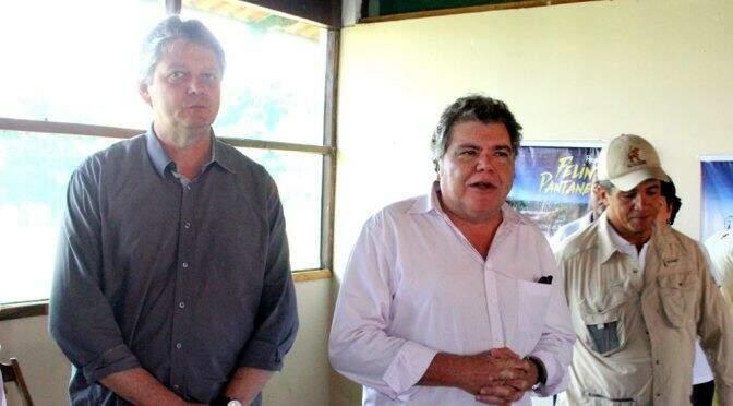 Jaime Verruck, em visita oficial do ministro do Meio Ambiente ao Pantanal (Foto: Reprodução)