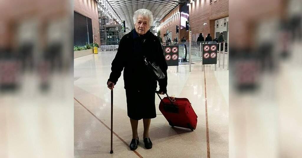 Irma, a nona de 93 anos, foi ao Quênia cuidar de órfãos