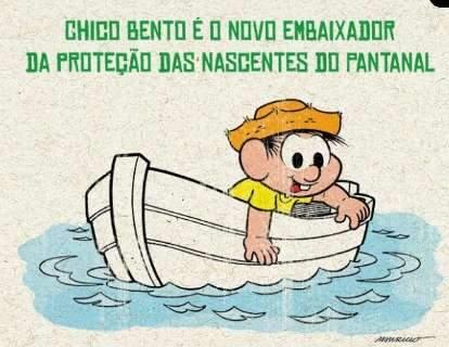 Chico Bento é novo embaixador da proteção das nascentes do Pantanal