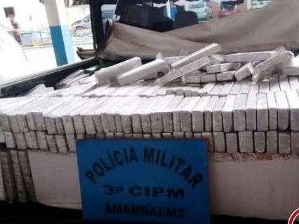Homem é preso com 610 quilos de maconha que seria levada para São Paulo