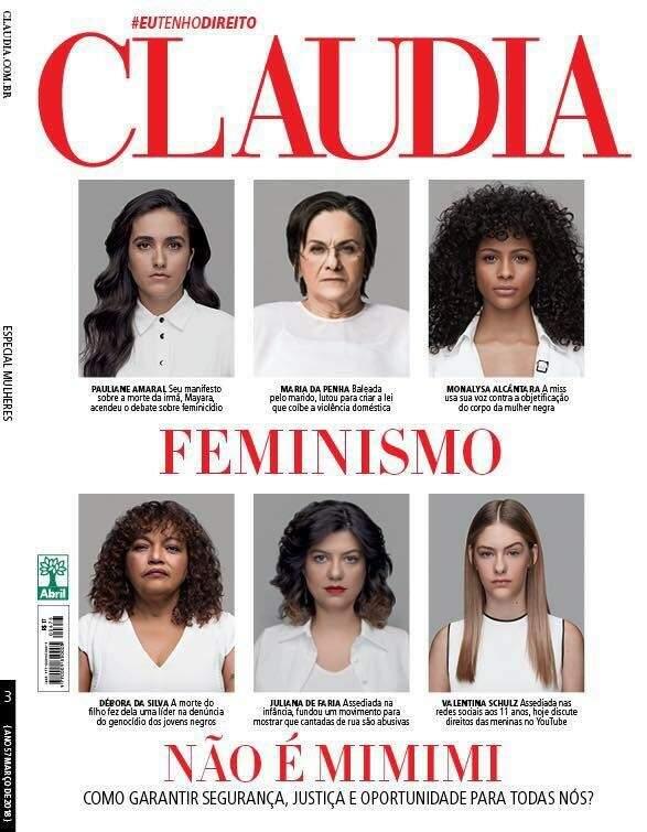 Pauliane estampou a capa da revista Cláudia no mês de março, o mês da mulher (Reprodução)