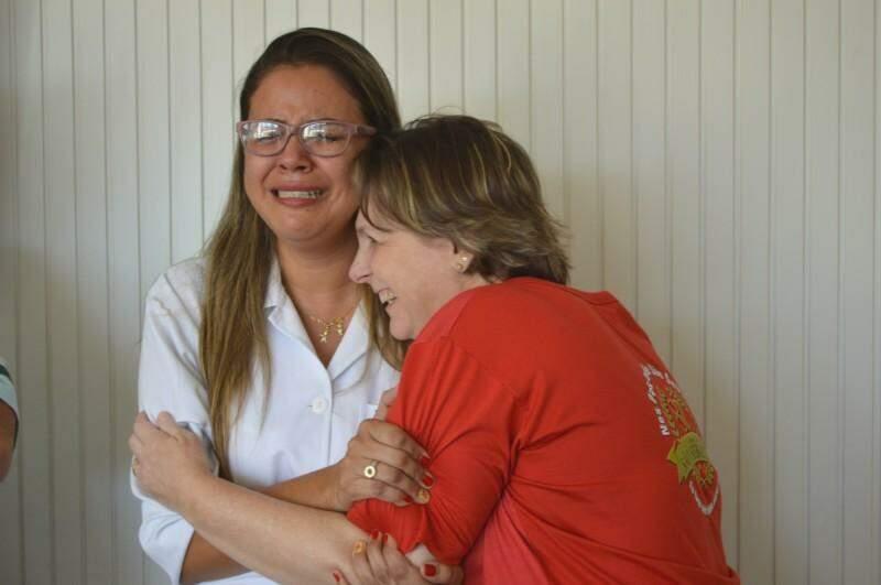 Lágrimas e sorrisos tomaram conta do encontro. (Foto: Thailla Torres)
