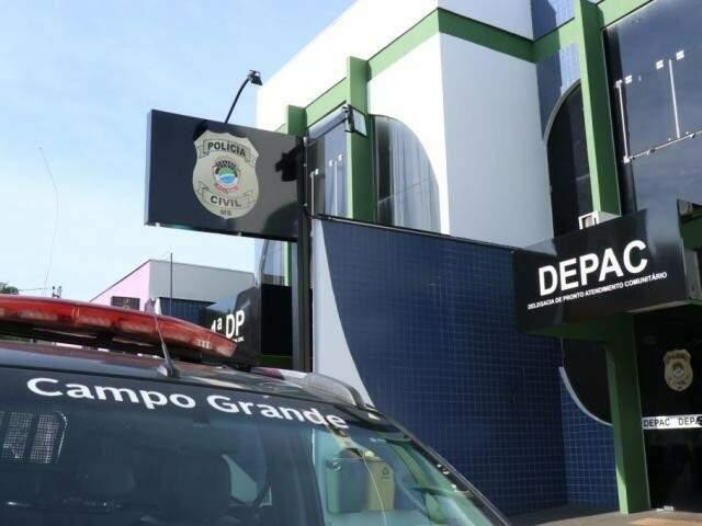 Fachada da Depac Centro, onde caso foi registrado, na madrugada deste sábado (Foto/Arquivo: Henrique Kawaminami)