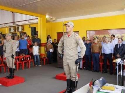 Reinaldo destaca investimentos durante troca de comando do Corpo de Bombeiros