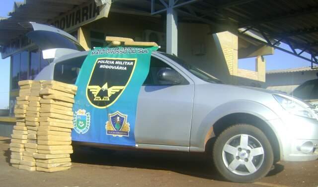 Droga apreendida pela PMRE em Paranaiba. (Foto: Divulgação PMRE)