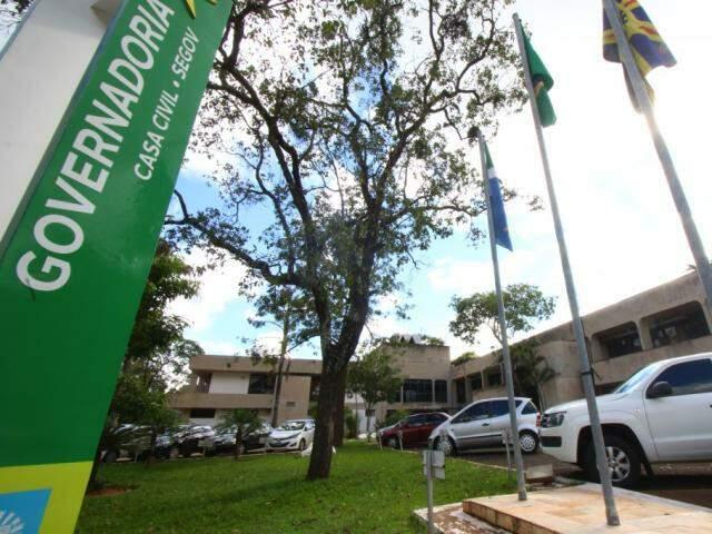 Sede da Governadoria, que fica no Parque dos Poderes, em Campo Grande. (Foto: André Bittar/Arquivo).