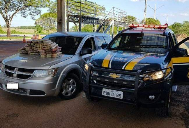Cocaína foi apreendida por equipe da Polícia Rodoviária Federal (Foto: divulgação/Polícia Rodoviária Federal)
