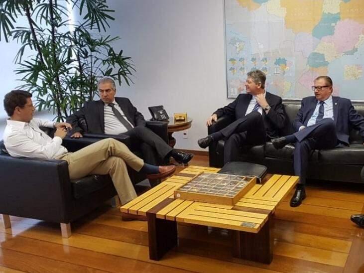Governador, em reunião no Ministério do Meio Ambiente (Foto/Divulgação)