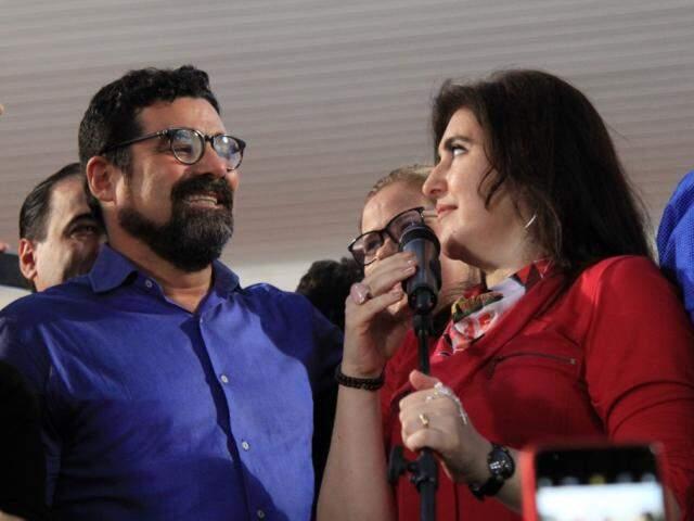 Harfouche e Simone: nome do PSC desistiu de concorrer ao Senado e governo e fechou apoio ao MDB. (Foto: Marina Pacheco)