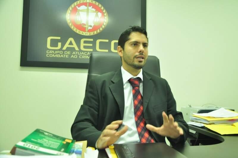 """Coordenador do Gaeco, Marcos Alex: """"Nosso foco é o combate ao desvio de recursos públicos"""" , diz foco (Foto: João Garrigó)"""