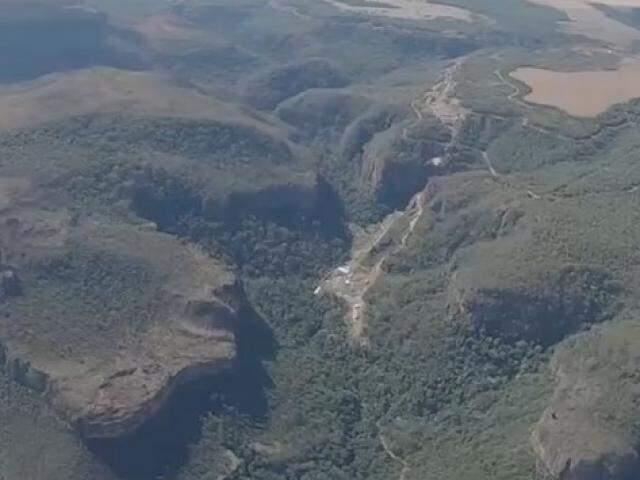 Área do planalto do Taquari em São Gabriel do Oeste. (Foto: Instituto Agwa/Reprodução)