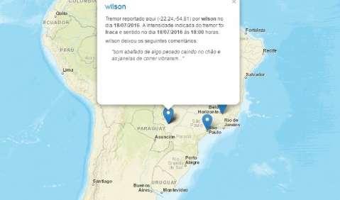 Sem registro oficial, suposto tremor de terra continua sendo mistério