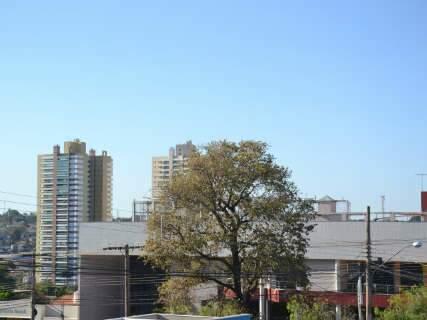 Céu azul deixa explícito que 5ª feira será de baixa umidade