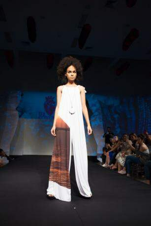 Os dois apresentaram suas roupas em Campo Grande na semana de moda do Marco