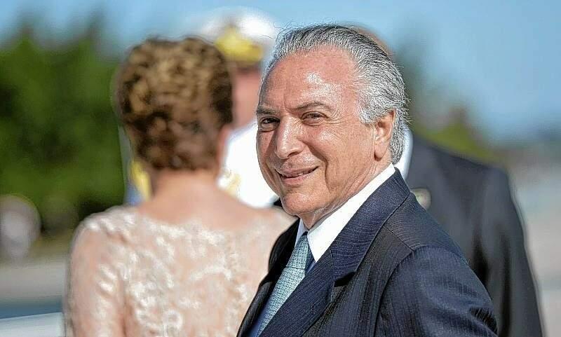Michel Temer (PMDB) tomou posse interinamente como presidente da República. (Foto: Agência Brasil)