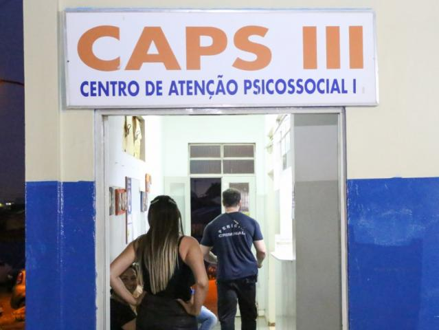 Setor onde paciente era atendido por psicóloga no momento do ataque. (Foto: Paulo Francis)