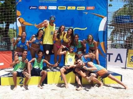 Vôlei de praia de MS conquista ouro e bronze no sul-americano e brasileiro