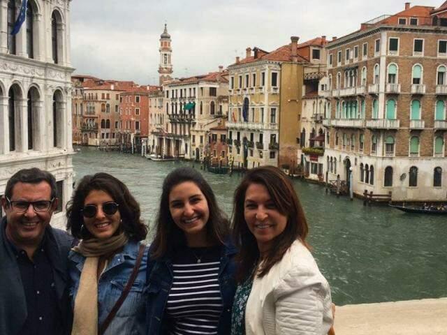 Família se aventurou por cerca de 15 dias em terras italianas. (Foto: Acervo Pessoal)