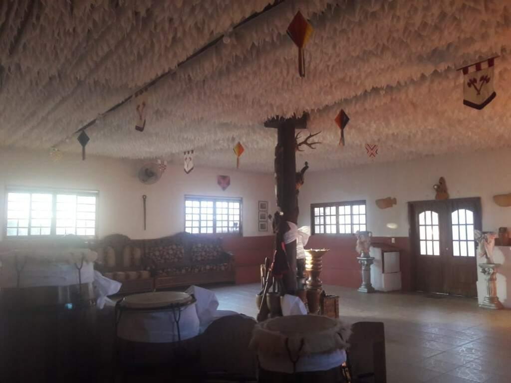 Salão dos orixás, que passou por reformas para receber a todos.