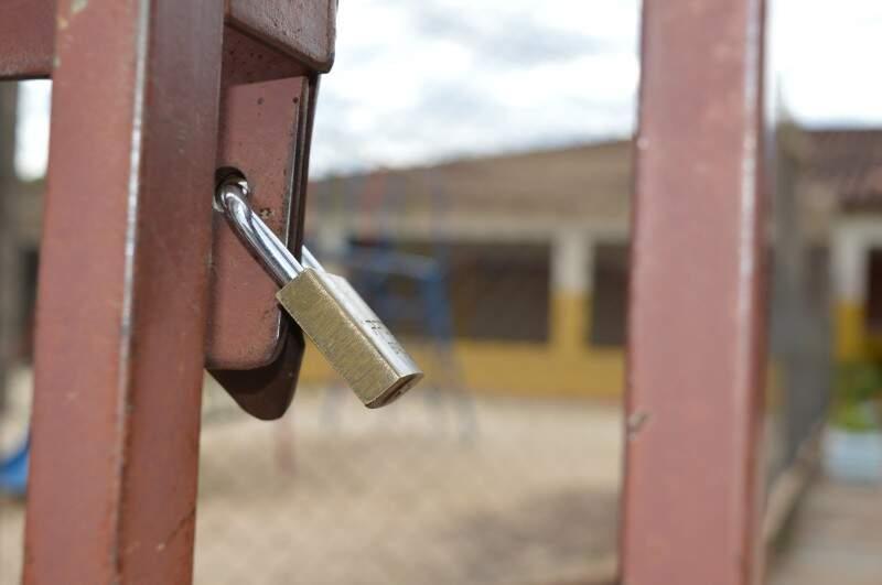 Creche no Universitário fechou as portas ontem até que o pagamento seja regularizado. (Foto: Leandro Abreu)