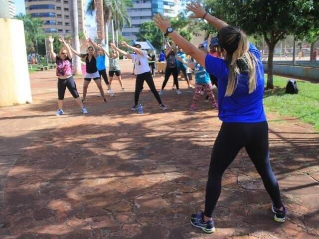 Atletas durante treino no Belmar Fidalgo. (Foto: Arquivo)